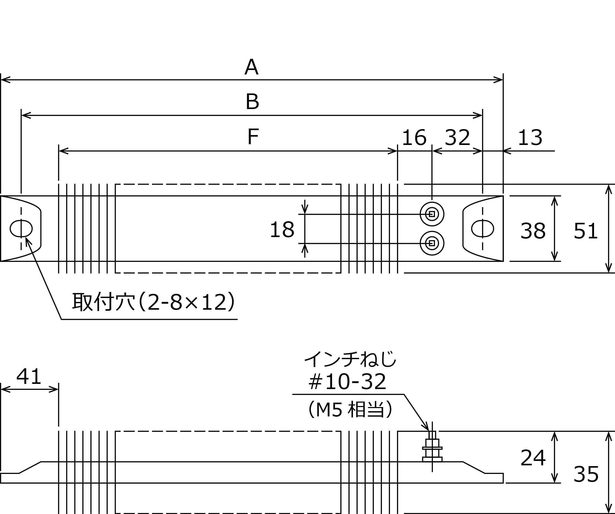 ITTフィン付きスペースヒーター形状図