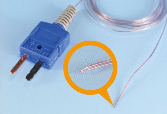 コネクター付熱電対 先端